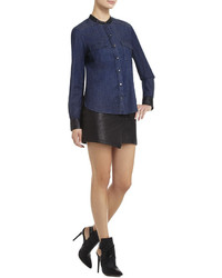 BCBGMAXAZRIA Hadley Blocked Long Sleeve Shirt