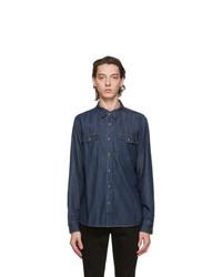 Frame Indigo Denim Double Pocket Shirt
