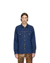VERSACE JEANS COUTURE Indigo Denim Icon Shirt