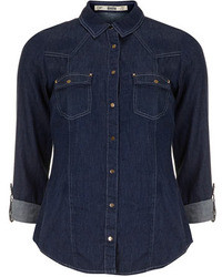 Dorothy Perkins Indigo Studded Denim Shirt
