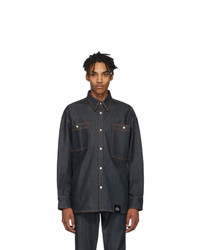 S.R. STUDIO. LA. CA. Indigo Unlimited Denim Oversized Shirt