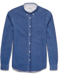 Acne Studios Isherwood Button Down Collar Lightweight Denim Shirt