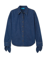 M.i.h Jeans Larsen Tie Detailed Denim Shirt