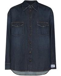 Dolce & Gabbana Logo Patch Buttoned Denim Shirt