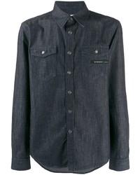 Givenchy Logo Patch Denim Shirt