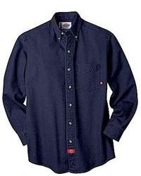 Dickies Long Sleeve Denim Work Shirt Big Tall