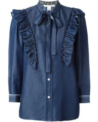 Marc Jacobs Ruffled Denim Shirt