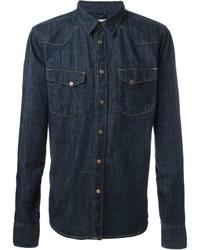 Nudie Jeans Co Jonis Triton Button Down Denim Shirt