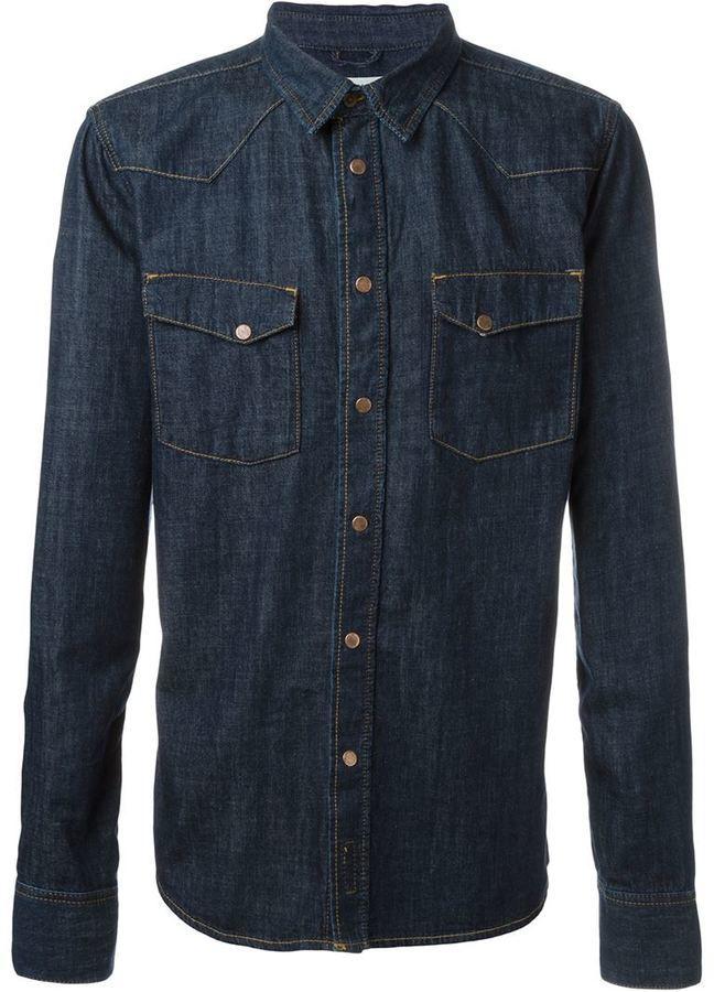 5e6cae8bc1 ... Shirts Nudie Jeans Co Jonis Triton Button Down Denim Shirt