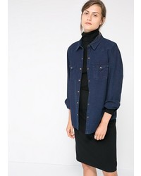 Mango Outlet Outlet Dark Denim Shirt