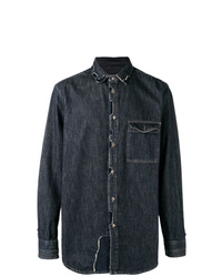 Diesel Black Gold Patchwork Denim Shirt