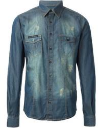 Philipp Plein Westway Denim Shirt