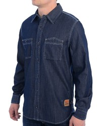 Barbour Ratchet Denim Shirt Indigo Dyed Long Sleeve