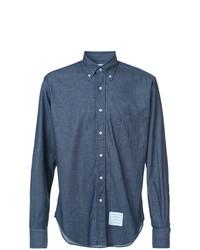 Thom Browne Regular Fit Long Sleeve Shirt In Shirting Denim