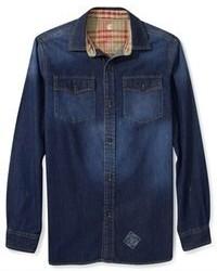 Rocawear Shirt Denim Long Sleeve Shirt