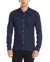 Scotch & Soda Ams Blauw Denim Western Shirt