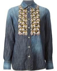 Dsquared2 Sequin Detail Denim Shirt