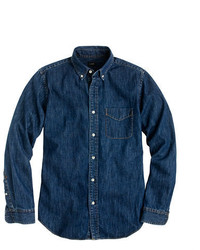 Slim midweight denim shirt medium 316762