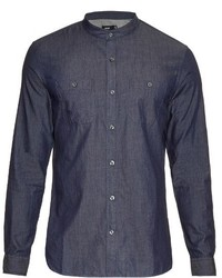 Vince Stand Collar Cotton Shirt