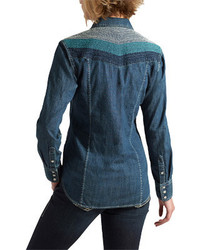 Ariat Sunset Denim Shirt Dark Night Long Sleeve Shirts