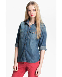 The perfect button front denim shirt medium 28312