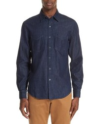 Boglioli Trim Fit Denim Sport Shirt
