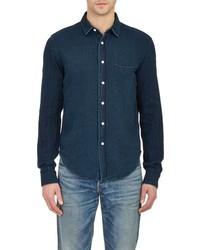 Simon Miller Washed Denim Shirt Blue