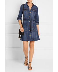... Current/Elliott Dorothy Denim Shirt Dress Mid Denim ...