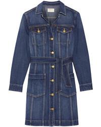 Current/Elliott Dorothy Denim Shirt Dress Mid Denim