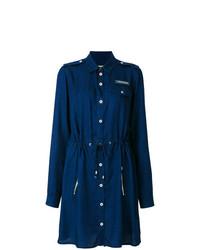 Versace Jeans Drawstring Waist Denim Dress