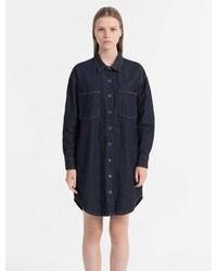 Calvin Klein Relaxed Fit Denim Shirt Dress