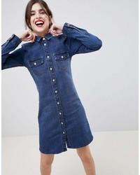 Esprit Western Style Denim Shirt Dress