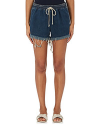 Chloé Chlo Frayed Denim Shorts