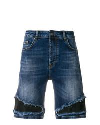 Frankie Morello Denim Biker Patch Board Shorts