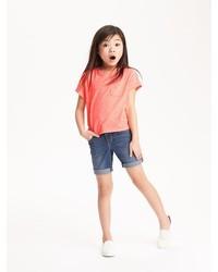 Old Navy Denim Midi Shorts For Girls