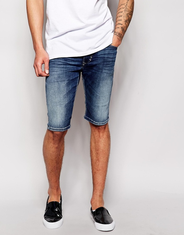 Diesel Denim Shorts Thashort 839h Slim Fit Dark Wash | Where to ...