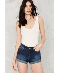 Cheap Monday Donna Denim Shorts Dawn