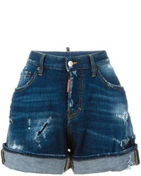 Dsquared2 Wide Leg Denim Shorts