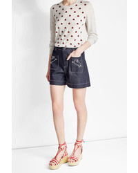 Markus Lupfer Embroidered Denim Shorts