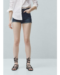 Mango Outlet High Waist Denim Shorts