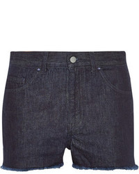 Marquesalmeida For Topshop Low Slung Frayed Denim Shorts