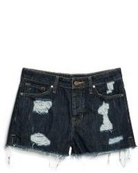 Mango Outlet Dark Denim Shorts