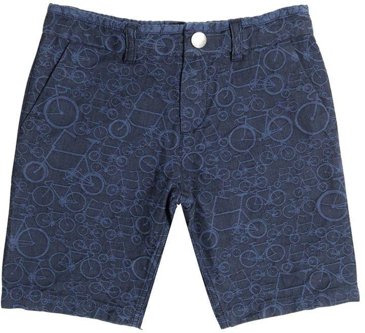Paul Smith Stretch Cotton Denim Jacquard Shorts