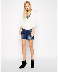 Vero Moda Paula Low Waist Denim Shorts