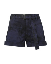 Proenza Schouler Pswl Tie Dyed Stretch Denim Shorts