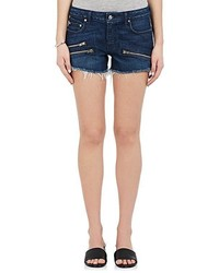 Derek Lam 10 Crosby Quinn Denim Cutoff Moto Shorts