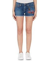 Mira Mikati Rainforest Embroidered Denim Shorts