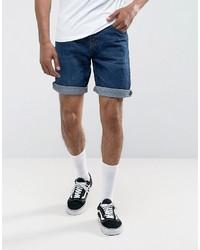 Pull&Bear Regular Fit Denim Shorts In Mid Wash