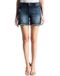 Liverpool Vickie Frayed Denim Shorts