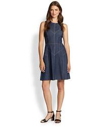 Katie sleeveless paneled denim dress medium 57359